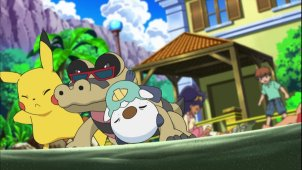 Pokemon Season 14. Episode #662 - A Sandile Gusher of Change