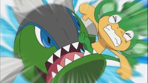 Pocket Monsters Best Wishes. Episode #026 - Enter Fishing Sommelier Dento!