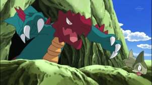 Pocket Monsters Best Wishes. Episode #030 - The Road To Becoming A Dragon Master! Kibgo VS Crimgan!!