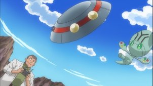 Pocket Monsters Best Wishes. Episode #033 - Riguree and The Unidentified Flying Object!