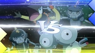 Criminal Investigation in Lumiose City! Clembot VS Black Clembot!!