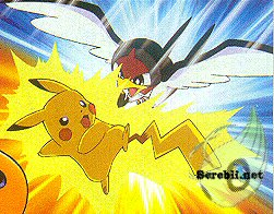 Pikachu Shocks a Subame