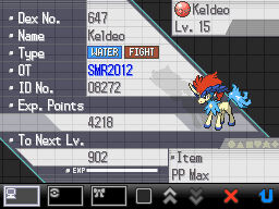 Pokémon Black & White - Keldeo Event