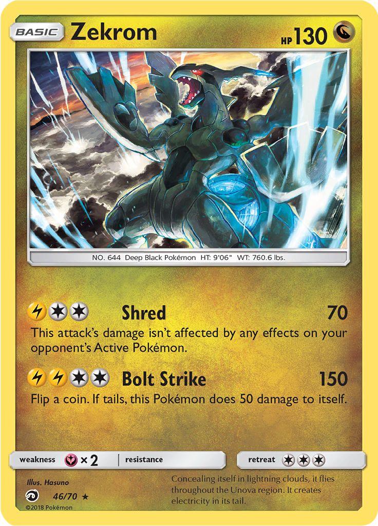 Tcg dragon majesty 46 zekrom - Carte pokemon dragon ...