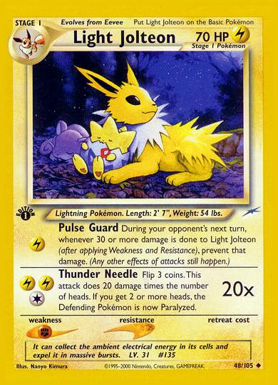Serebii Net Tcg Neo Destiny 48 Light Jolteon