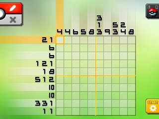Pok mon picross location listings area 02 for Picross mural 1
