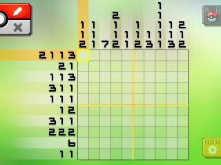 Pok mon picross location listings area 24 for Picross mural 1