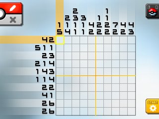 Pok mon picross location listings area 30 for Picross mural 1