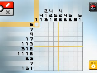 Pok mon picross location listings area 06 for Picross mural 1