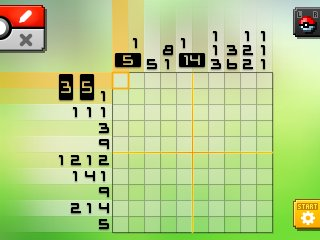 Pok mon picross location listings area 01 alt world for Picross mural 1