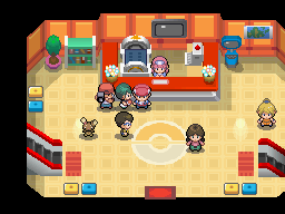 Pokémon Platinum - Battle! In the Pokémon Center!!
