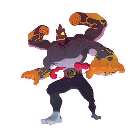 Gigantamax Machamp Artwork
