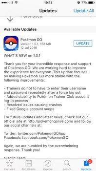 Pokémon GO - Patches & Updates