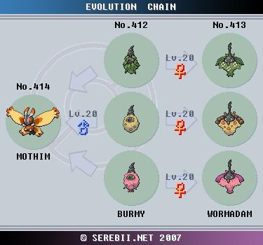 Pok mon of the week mothim - Pokemon platine evolution ...