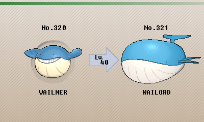 Pokémon of the Week - Wailord Wailmer Pokemon Evolution Chart