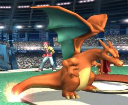 Charizard is sent out