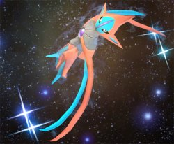 Deoxys Flies Up
