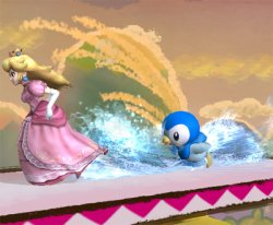 Piplup uses Surf